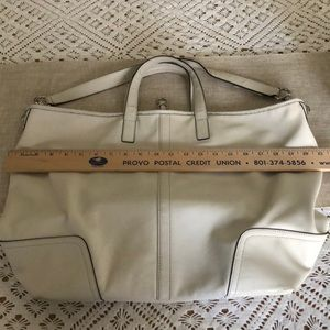 Coach Bags - COACH large, cream-color leather bucket bag purse